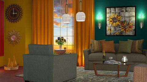 M_Sunflower - Living room  - by milyca8