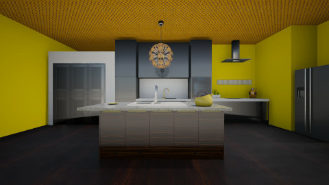 black kitchen - Kitchen - by jria8