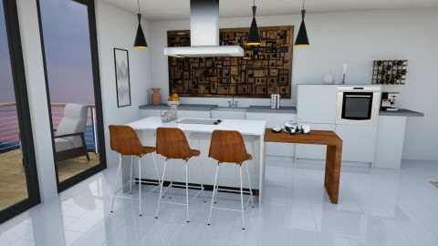cool - Minimal - Kitchen  - by naominaomi