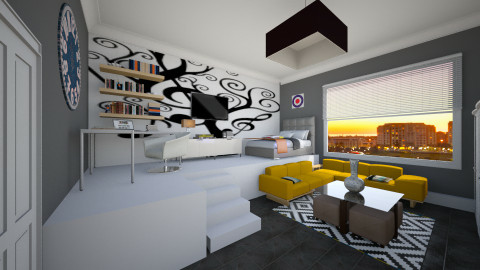 low budget  - Minimal - Bedroom  - by Nhezi