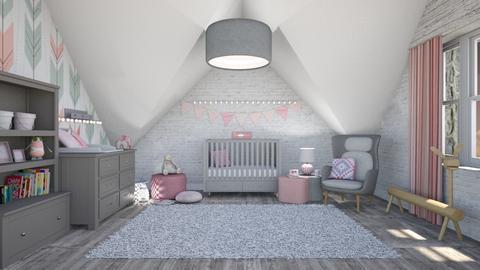 pink nursery - Kids room  - by miadesign