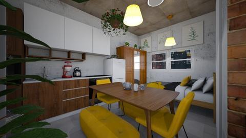studio loft view - Minimal - by BlokhEphroni