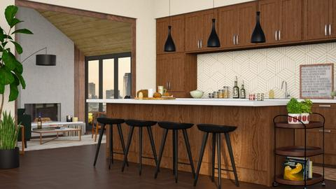 Mid Century Kitchen - Modern - Kitchen  - by Roquette