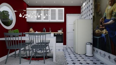 Tiny Modern Kitchen - Modern - Kitchen  - by HenkRetro1960