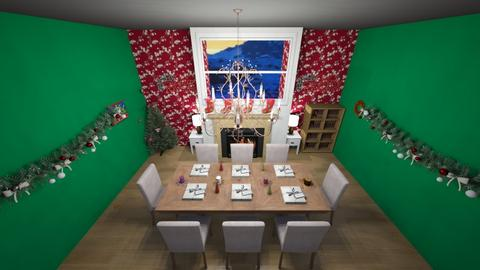 Christmas fangirldesigner - Dining room  - by Hamzah luvs cats
