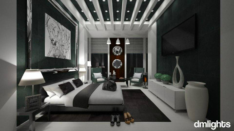 Dark Hotel - Modern - Bedroom  - by KRdesign
