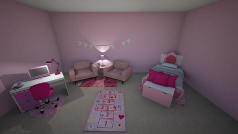 Yayx2 Little Girls Bedroo - Bedroom  - by Yay x2 Design