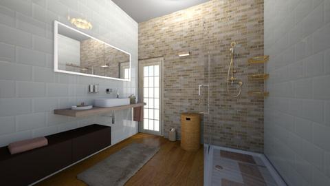 3x3 bathroom - Bathroom  - by annalwys