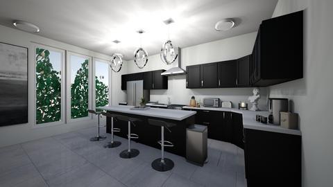 Black Contemporary  - Kitchen  - by Sunshine Girl