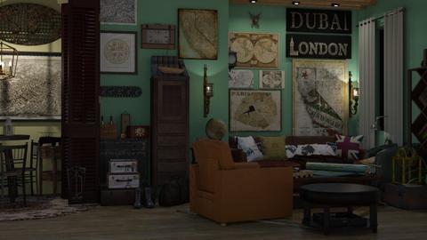 thee bigest traveller - Vintage - Living room  - by i l o n a