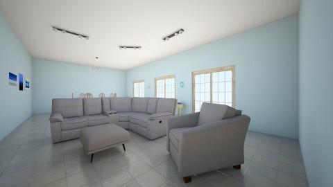 Summer Beach House - Classic - Living room - by EmilyAnderson03