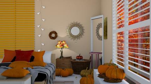 autumn bedroom - Bedroom  - by Bia10_moonlight