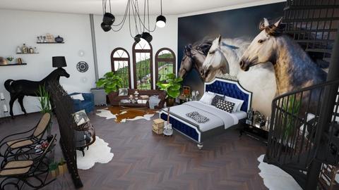 Horse lover bedroom - Country - by Laman Khanlarova