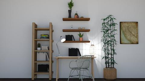 boho office 1 - Rustic - Office  - by Thepanneledroom