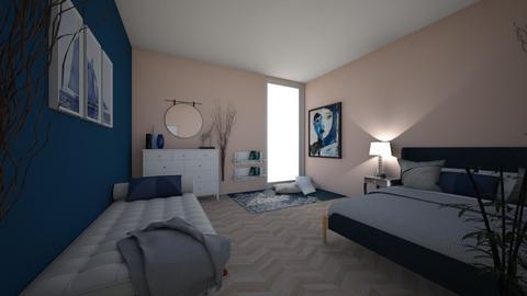 Rose Modern Minimalist Bedroom - Minimal - Bedroom  - by DragonDesigner