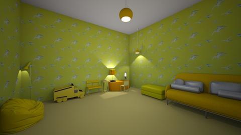 Yellow Room - Living room  - by noahsherman