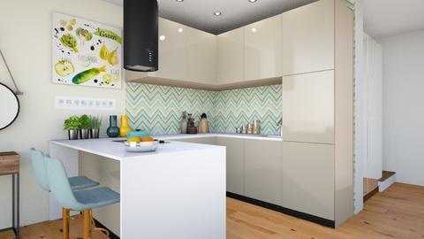 lime kitchen - Kitchen - by ewcia3666