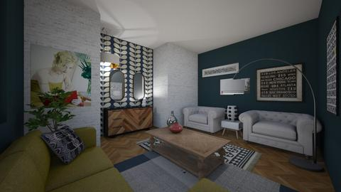 Quirky Living Room - Living room  - by LiselleA