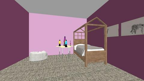 Kids Purple Bedroom - Feminine - Kids room - by MissBear711