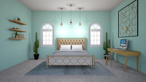 golden cactus - Modern - Bedroom  - by aschaper