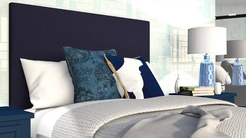 Shades of Blue - Bedroom  - by designkitty31