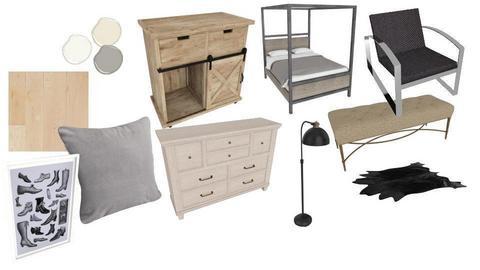 farm house bedroom - by laurendesigns20