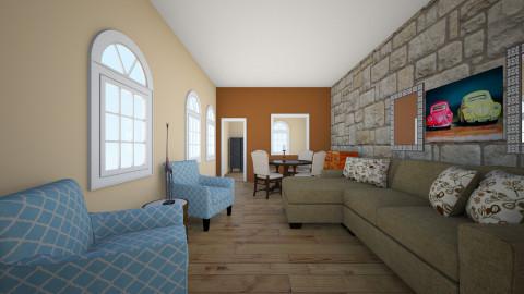 Rustic - Living room - by Wendy Broyles