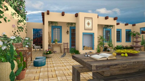 Design 222 Sante Fe Adobe Backyard - Garden  - by Daisy320