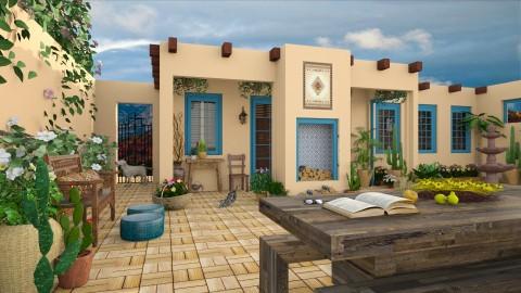 Design 222 Sante Fe Adobe Backyard - Garden - by Daisy320