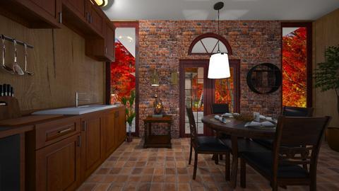 Autumn Kitchen - Rustic - Kitchen  - by haileymilby