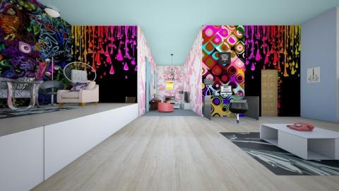 Funky Teenage Bedroom  - Retro - Bedroom  - by Taisha Casimir