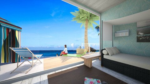 Beach Room - Classic - Bedroom  - by tvirandie