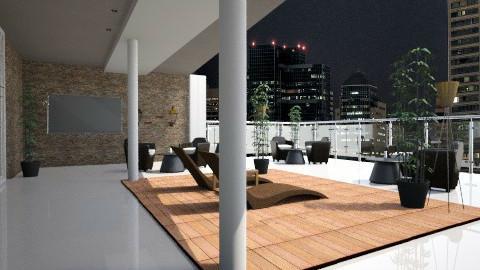 City rooftop restaurant - by Martynas Krikstanavicius