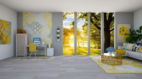 Yellow and Grey - Living room  - by Feeny