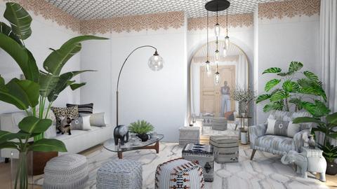 White black dreams - Living room  - by chania