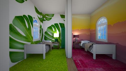 Green and Pink Bedroom - Bedroom  - by Snowball Styler
