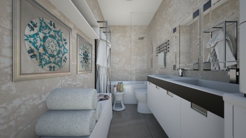 For ApartmentNew - Eclectic - Bathroom  - by Theadora