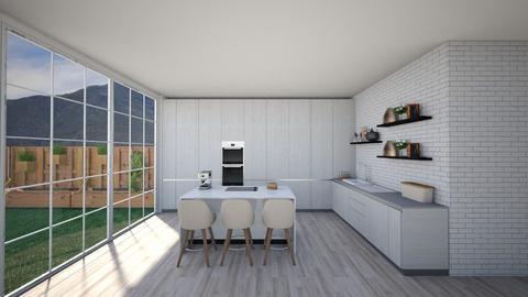 Kitchen with Garden - Kitchen  - by Tanem Kutlu