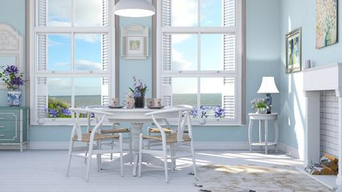 M_ Light blue - Dining room  - by milyca8