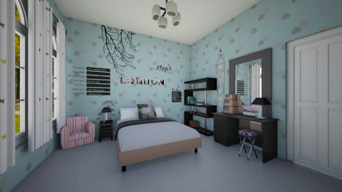 Ryzka room - Bedroom - by ikhtiara