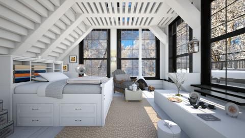 Loft with balcony - Modern - Bedroom  - by nevenadesko