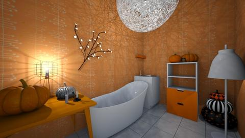 orange and white bathroom - Modern - Bathroom  - by toyjuliette2008