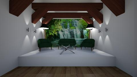 Forest Green Snug - Modern - Living room  - by riordan simpson