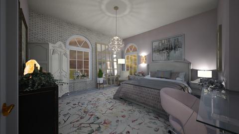 blushing bedroom - Bedroom  - by graciecbogardus