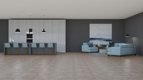 Pale Blue - Living room  - by 021snoopy205