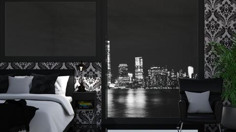 Black_White City - Bedroom  - by KittyKat28