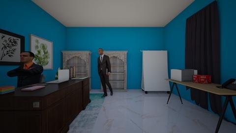 blue office - Modern - Office  - by drip41