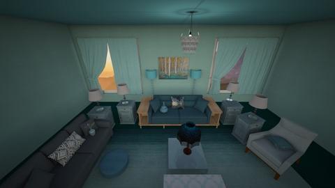 Teal Light - Living room  - by emivim