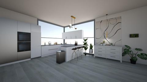 bright kitchen - Modern - Kitchen  - by suu