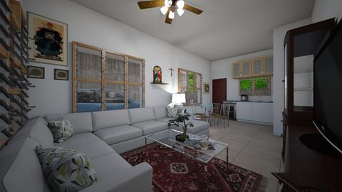 Typical Filipino House - Living room  - by SammyJPili